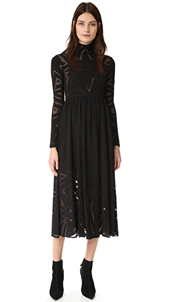 Mara Hoffman Burnout Dress - Black
