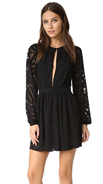 Mara Hoffman Burnout Mini Dress - Black