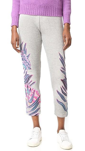 Mara Hoffman Embroidered Sweatpants
