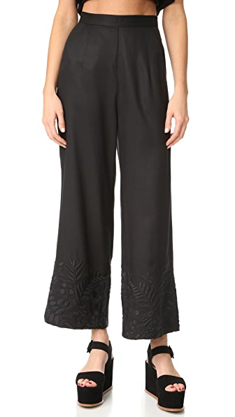 Mara Hoffman Embroidered Pants - Black