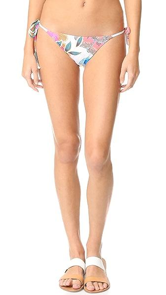 Mara Hoffman Tie Side Bikini Bottom - Arcadia Coral