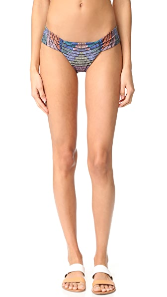 Mara Hoffman Side Ruched Bottoms - Radial Fig