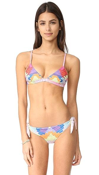 Mara Hoffman Triangle Bikini Top In Radial Lavender