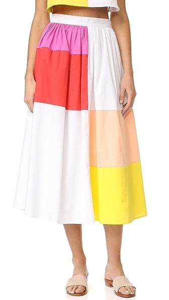 Mara Hoffman Patchwork Midi Skirt In Patchwork