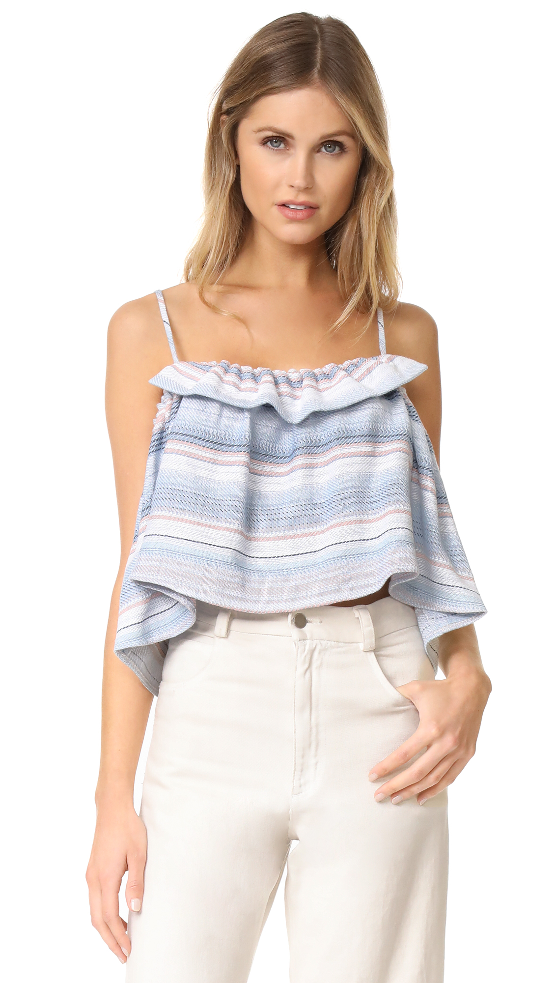 Mara Hoffman Gathered Cami - Baja Stripe