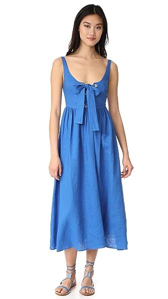 Mara Hoffman Lace Up Maxi Dress