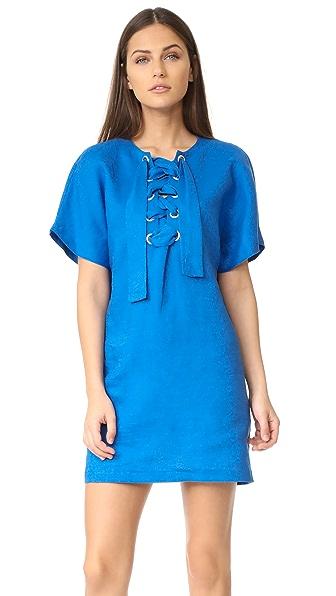 Mara Hoffman Lace Up Mini Dress - Cobalt