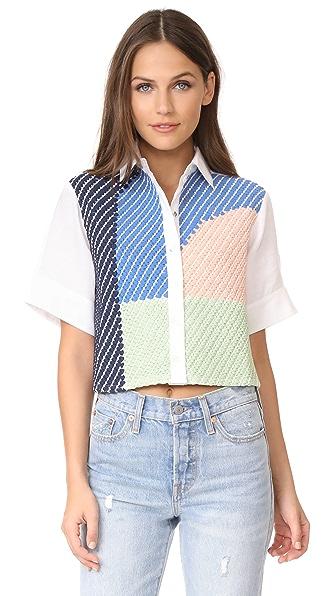Mara Hoffman Weave Button Up Shirt - Weave
