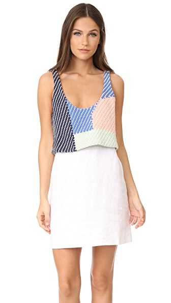 Mara Hoffman Weave Tank Mini Dress In Weave