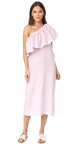 Mara Hoffman One Shoulder Midi Dress - Lavender