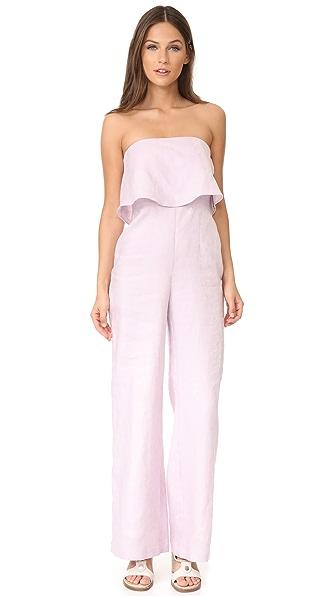 Mara Hoffman Strapless Jumpsuit - Lavender