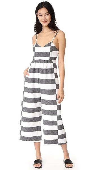 Mara Hoffman Easy Jumpsuit In Black/White