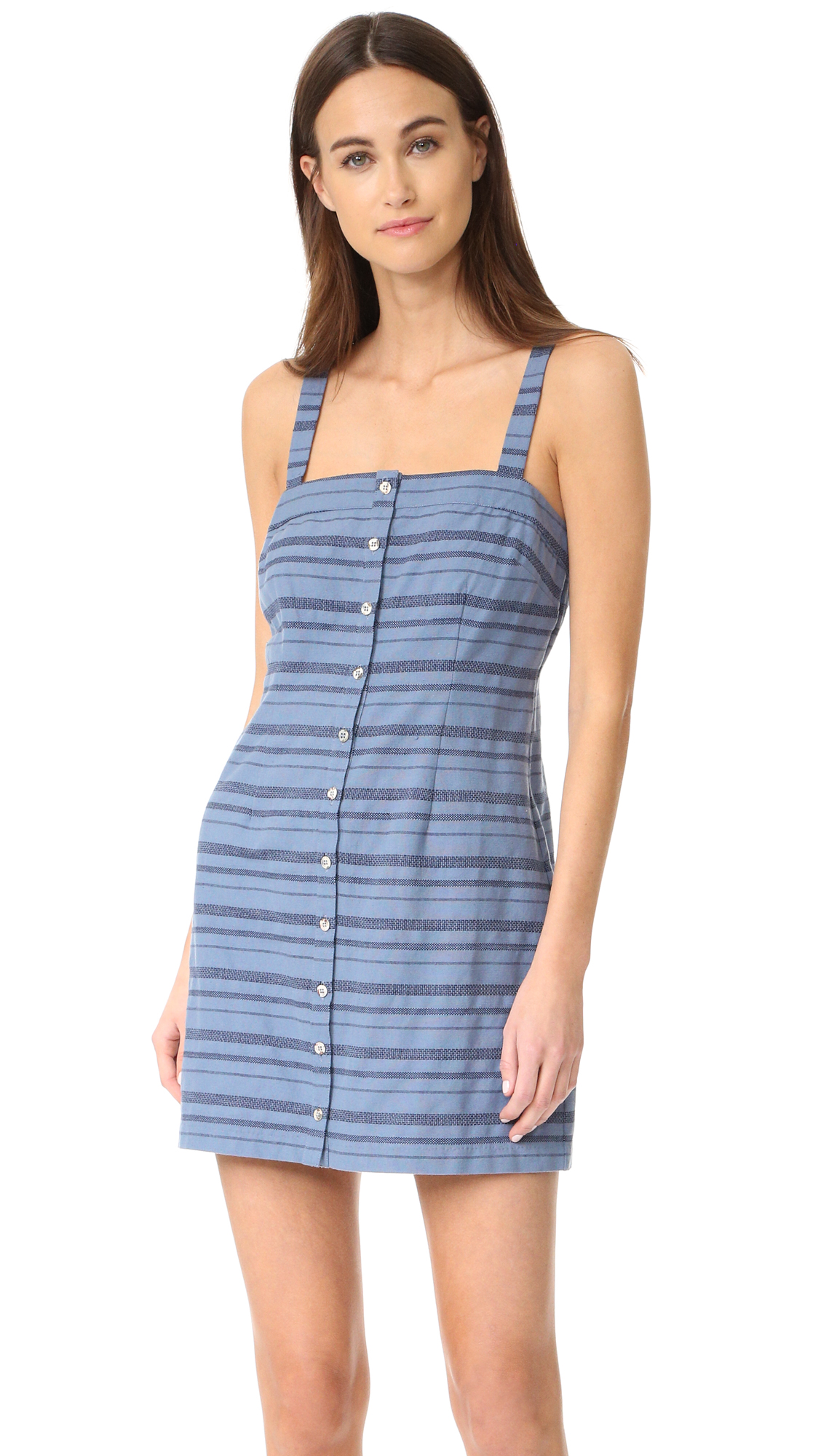 Mara Hoffman Sheath Mini Dress - Denim Multi