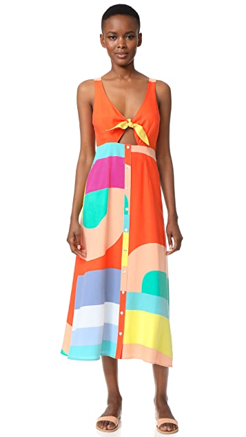 Mara Hoffman Tie Front Dress