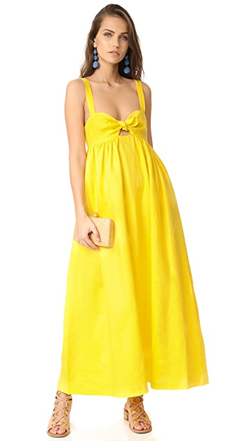 Mara Hoffman Tie Front Maxi Dress