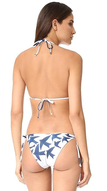Mara Hoffman Birds String Bikini Top