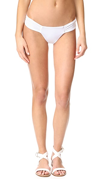 Mara Hoffman Side Ruched Bikini Bottoms - White
