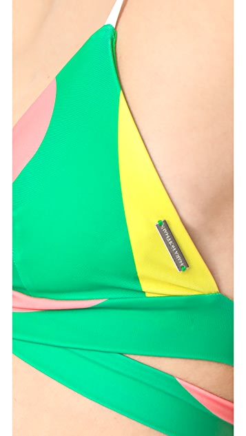 Mara Hoffman Beach Ball Wrap Bikini Top