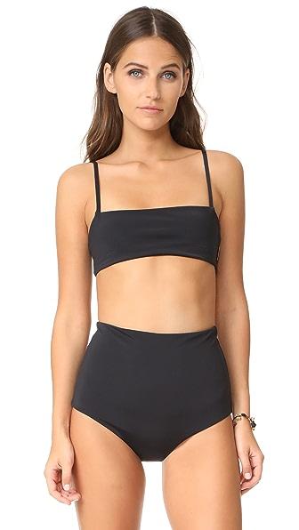 Mara Hoffman Sia Bikini Top - Black