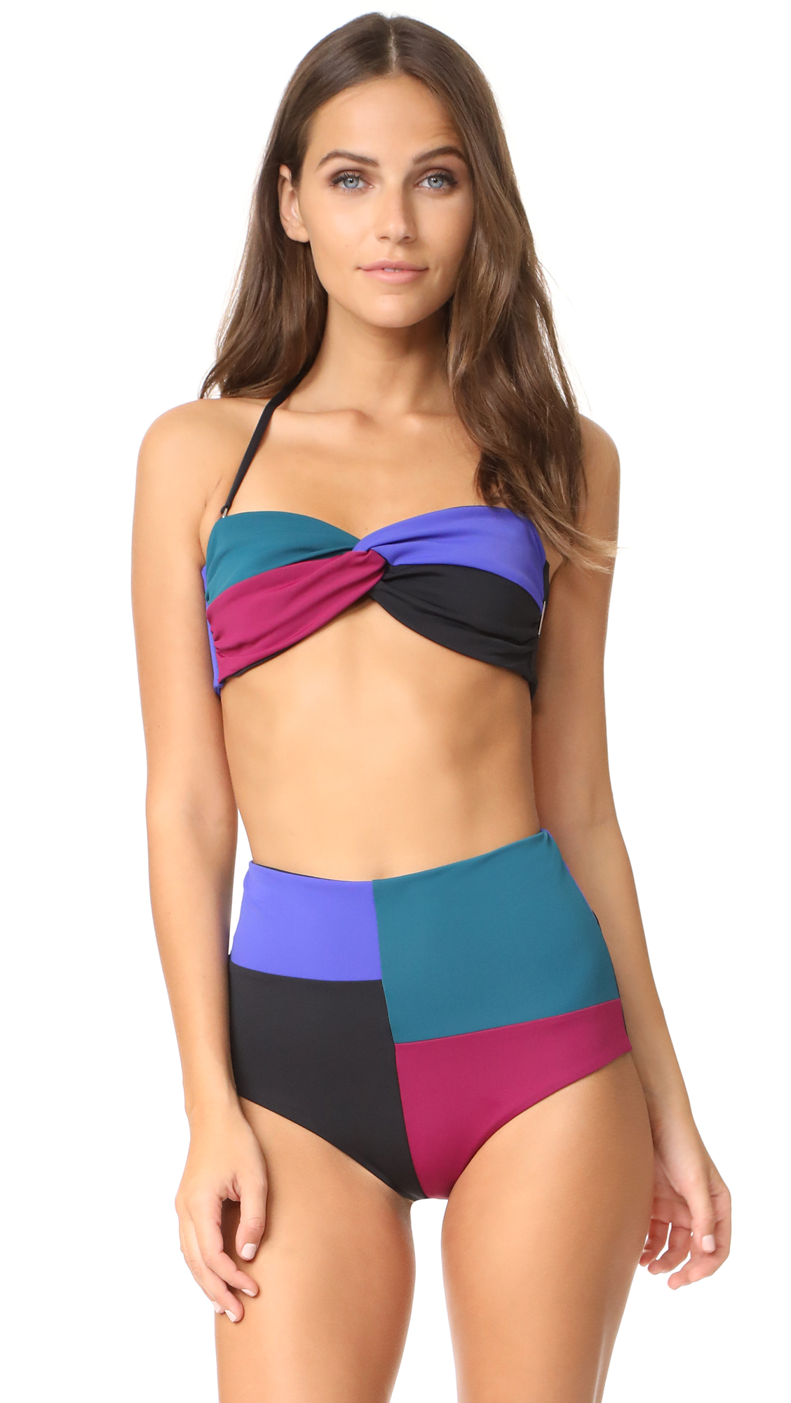 Mara Hoffman Chey Bandeau Bikini Top - Colorblock