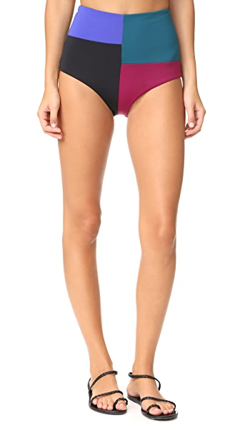 Mara Hoffman Lydia Bikini Bottoms - Colorblock