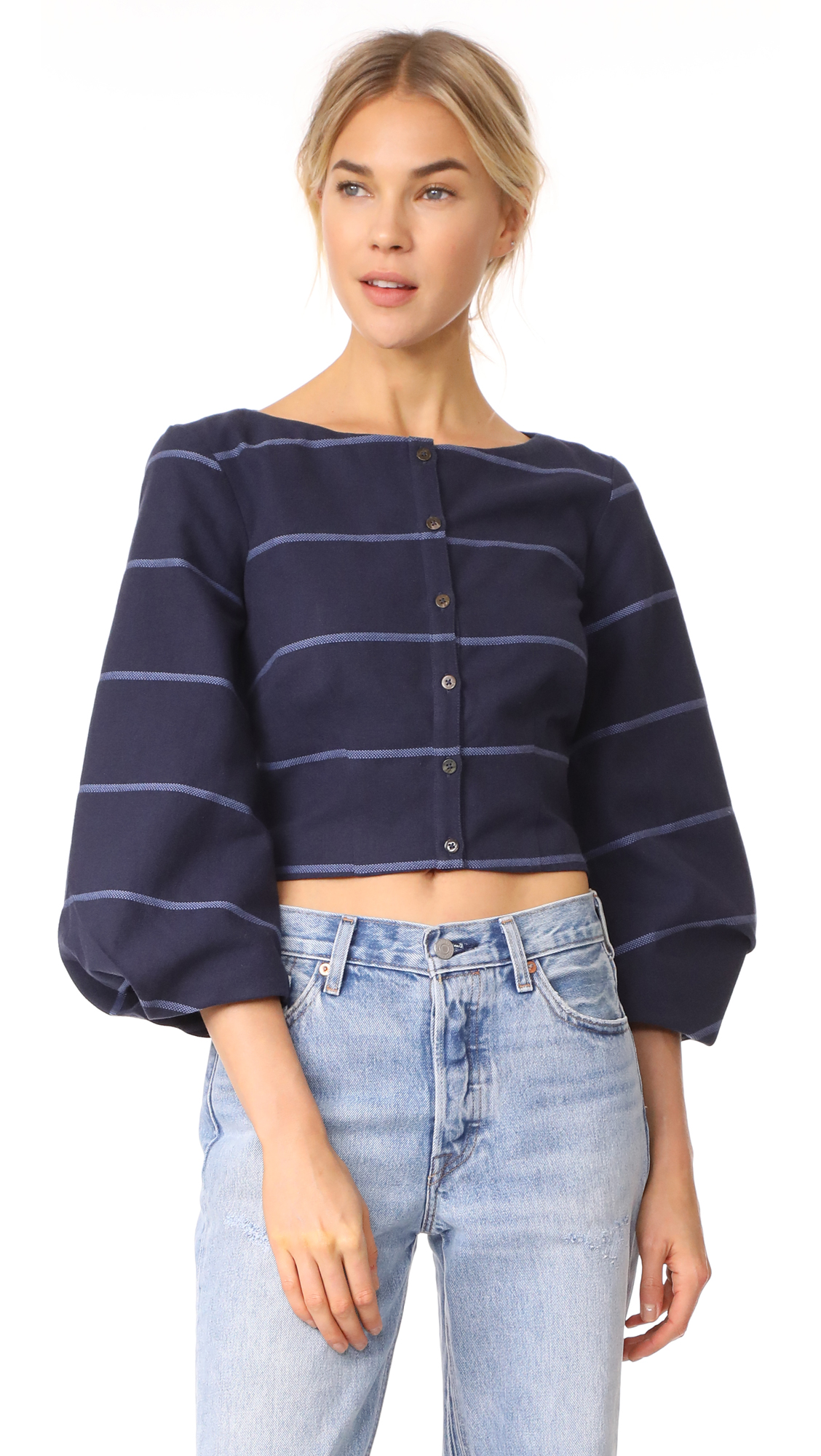 Mara Hoffman Gertrude Top - Navy Blue