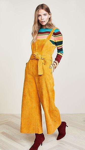 Mara Hoffman Idola Corduroy Jumpsuit - Mustard