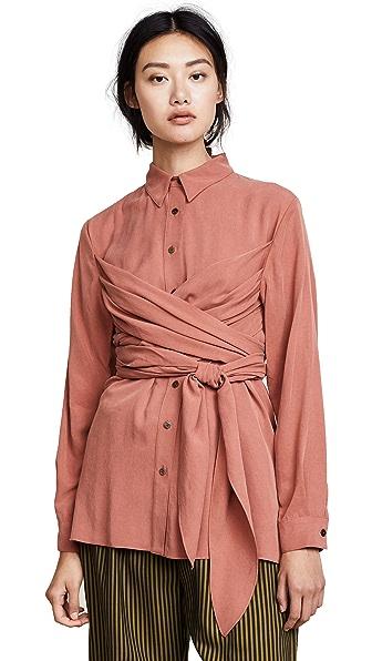 Mara Hoffman Ella Shirt In Rust