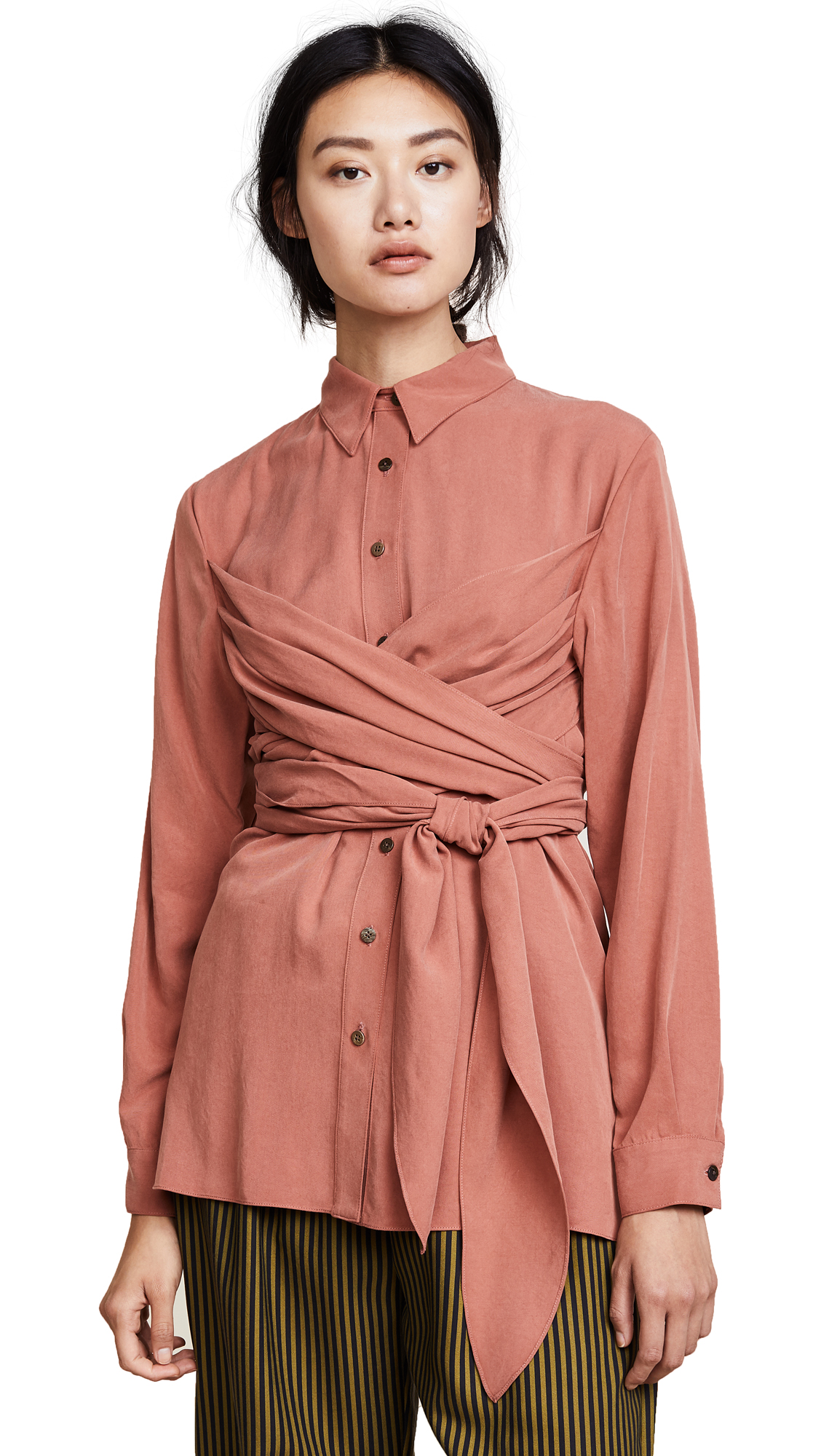 Mara Hoffman Ella Shirt - Rust