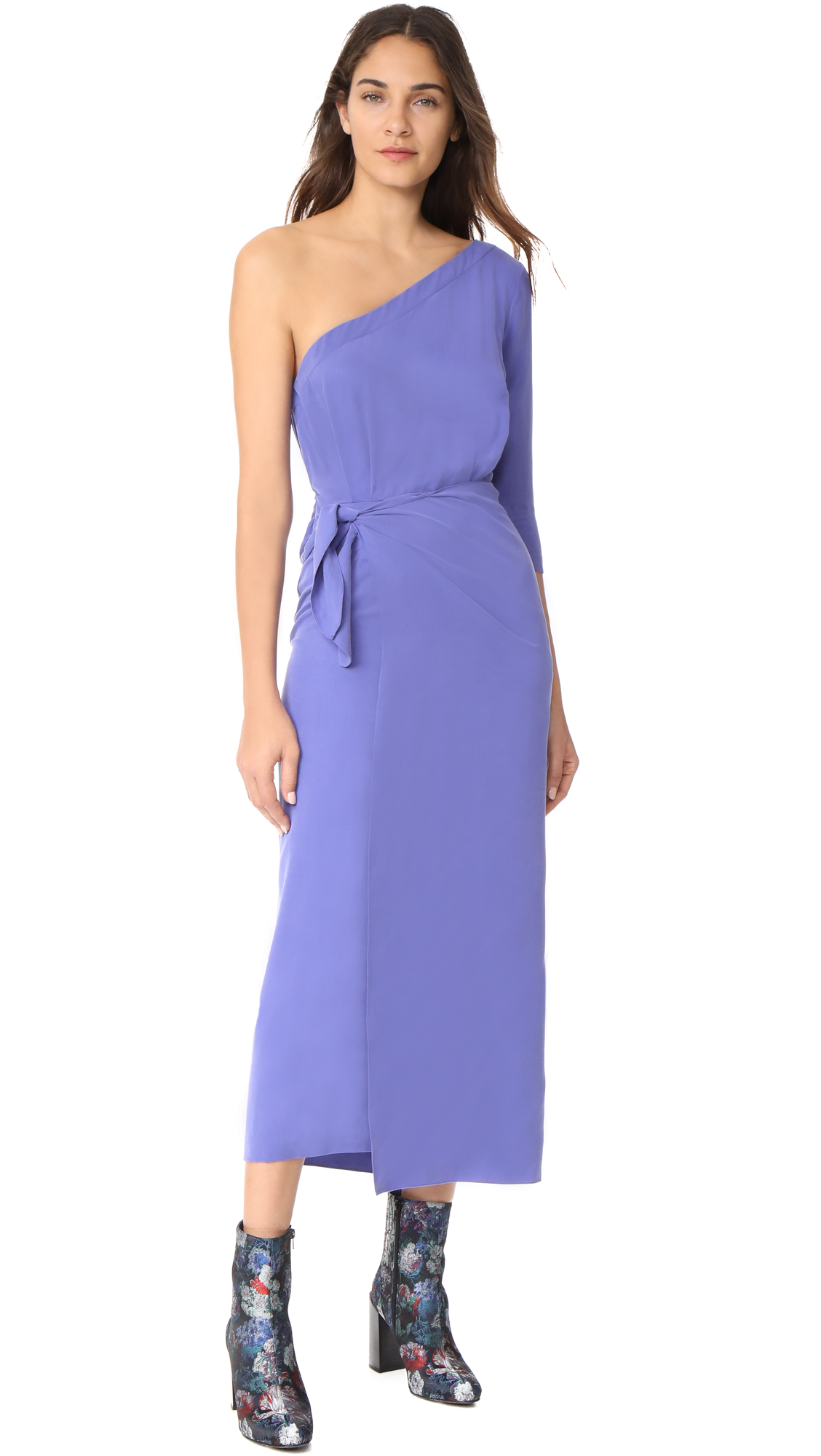 Mara Hoffman Shirley One Shoulder Dress - Purple
