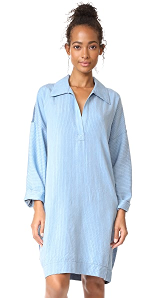 Mara Hoffman Abby Dress In Denim