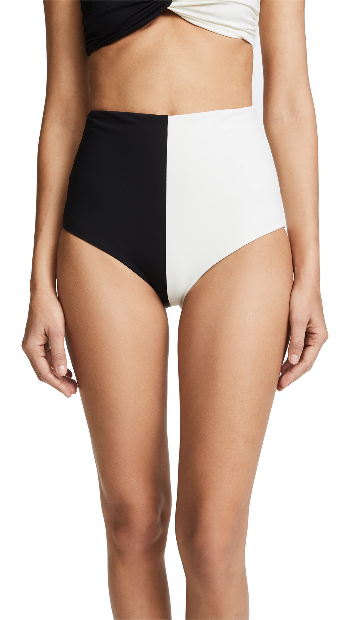 Mara Hoffman Lydia High Waisted Bottoms - Black Cream