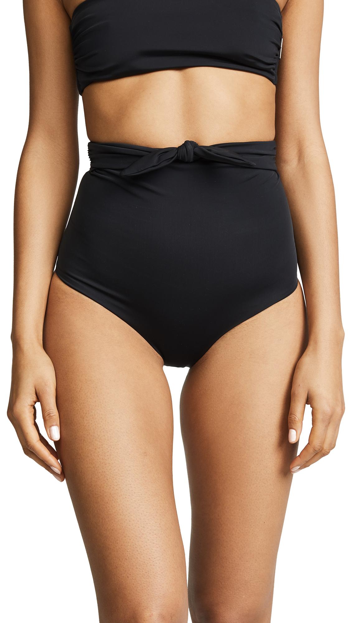 Mara Hoffman Jay Bikini Bottoms - Black