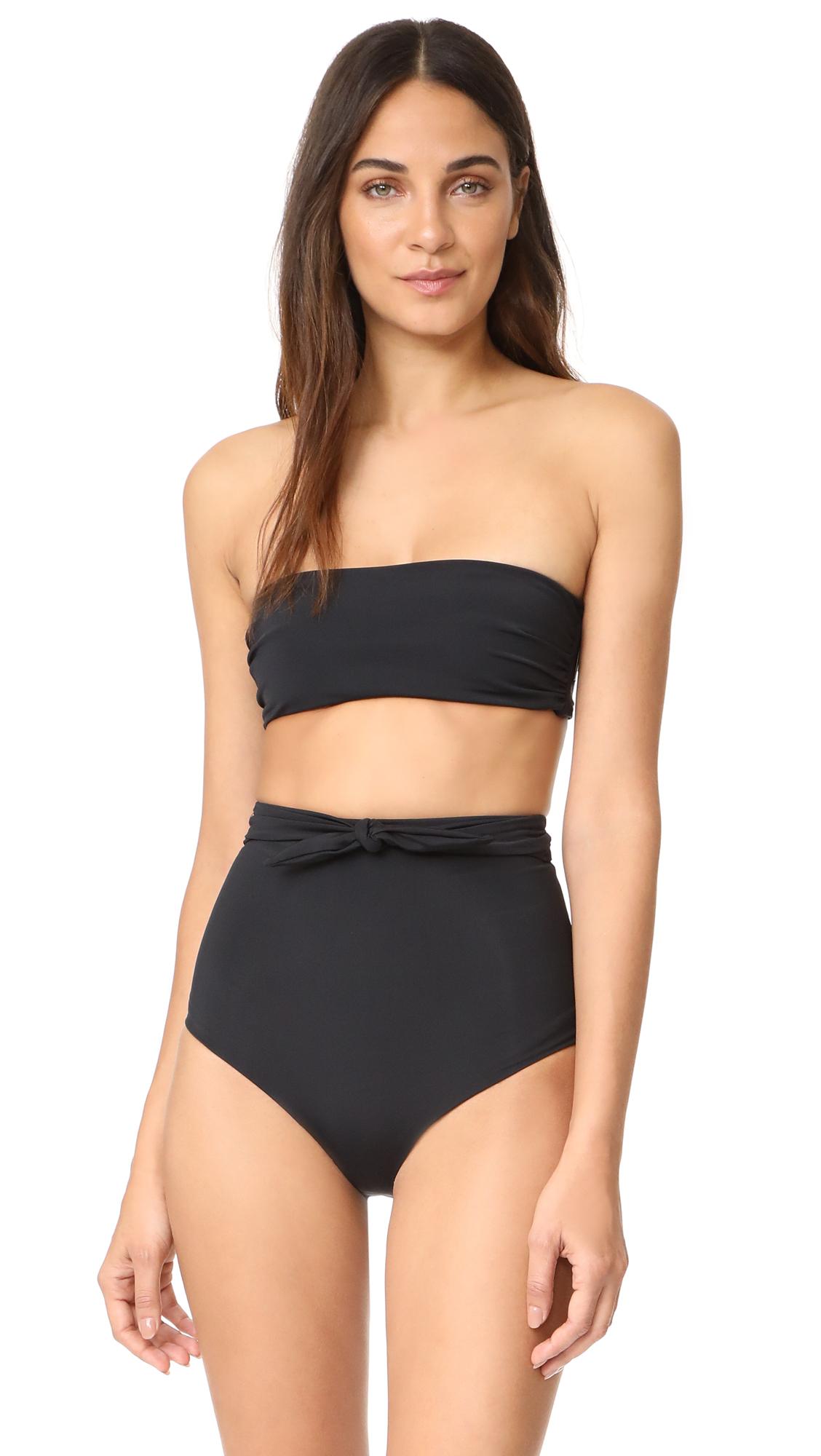 Mara Hoffman Abigail Bikini Top - Black