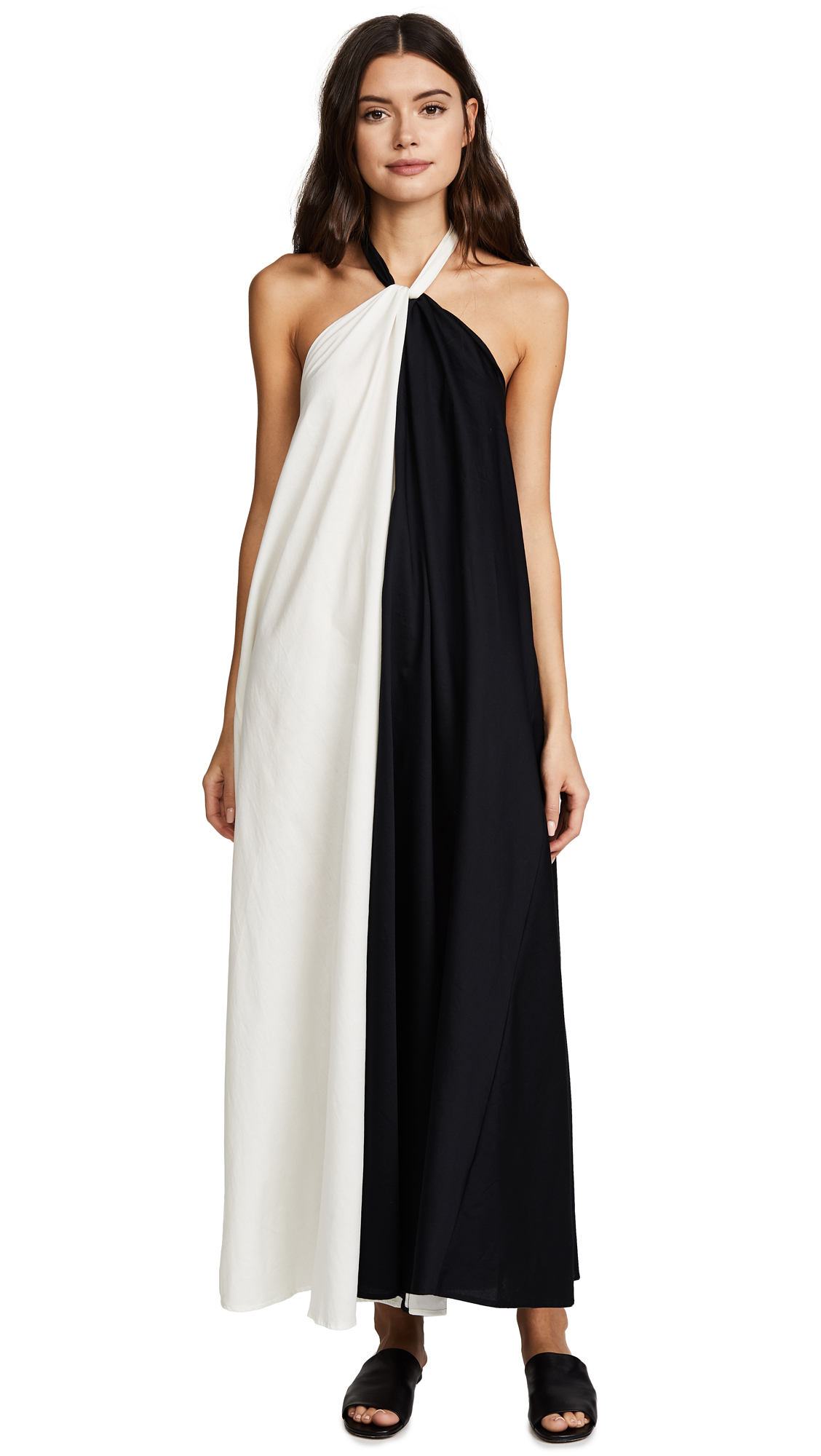 Mara Hoffman Lucille Dress - Black/Cream