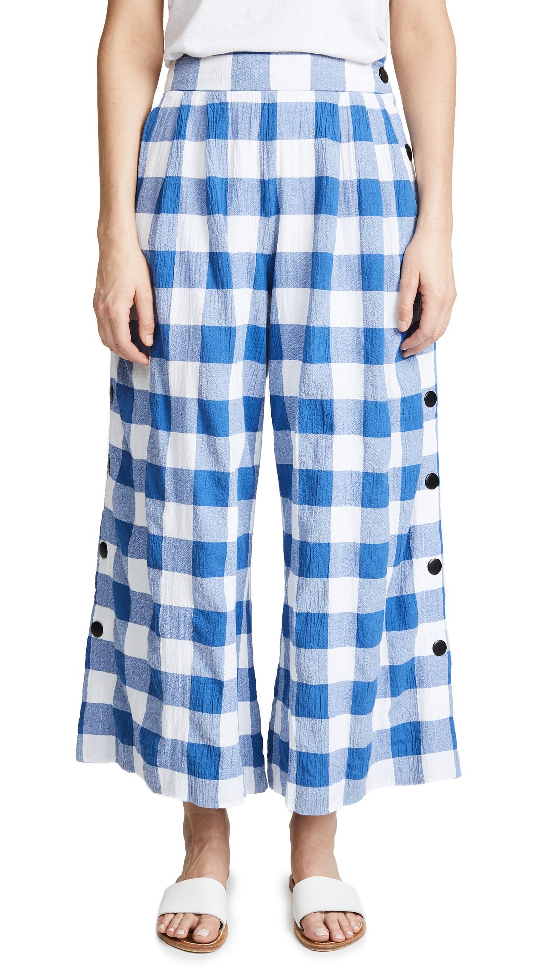 Angie Gingham Pants in Blue