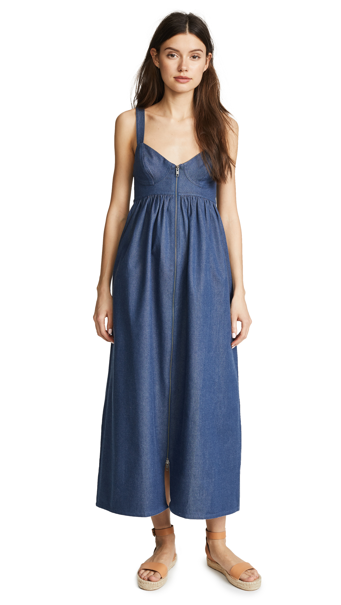 Mara Hoffman Denim Midi Dress In Dark Denim