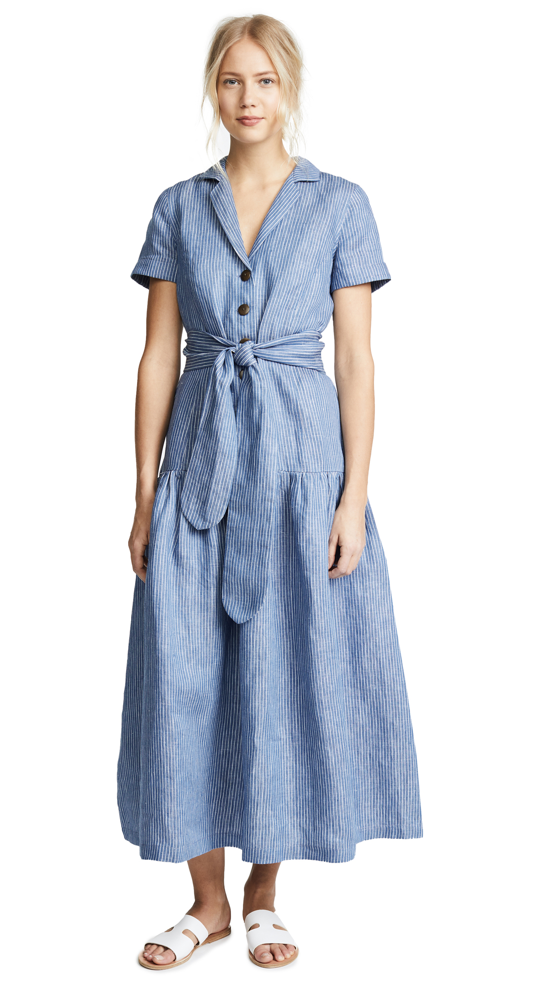 Mara Hoffman Maritza Dress In Denim
