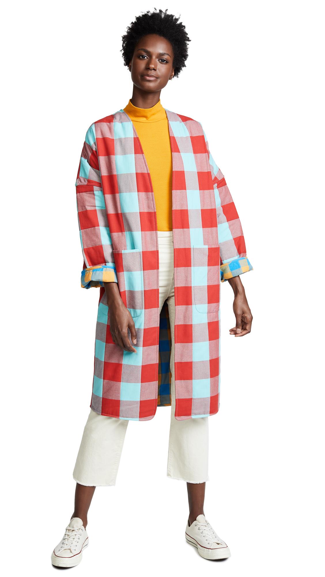 Mara Hoffman Reversible Willow Coat In Yellow Multi