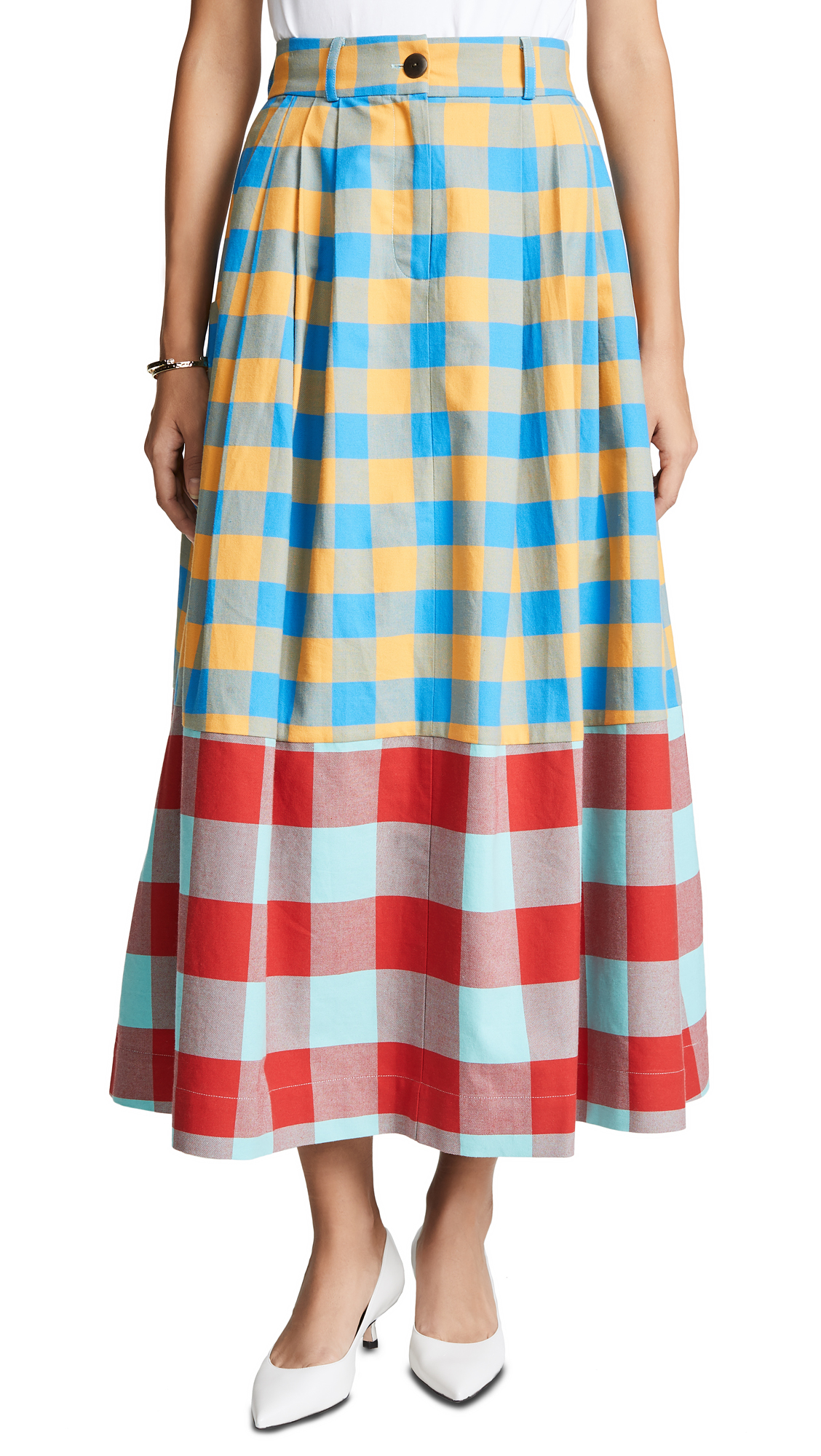 Mara Hoffman Tulay Skirt In Yellow Multi
