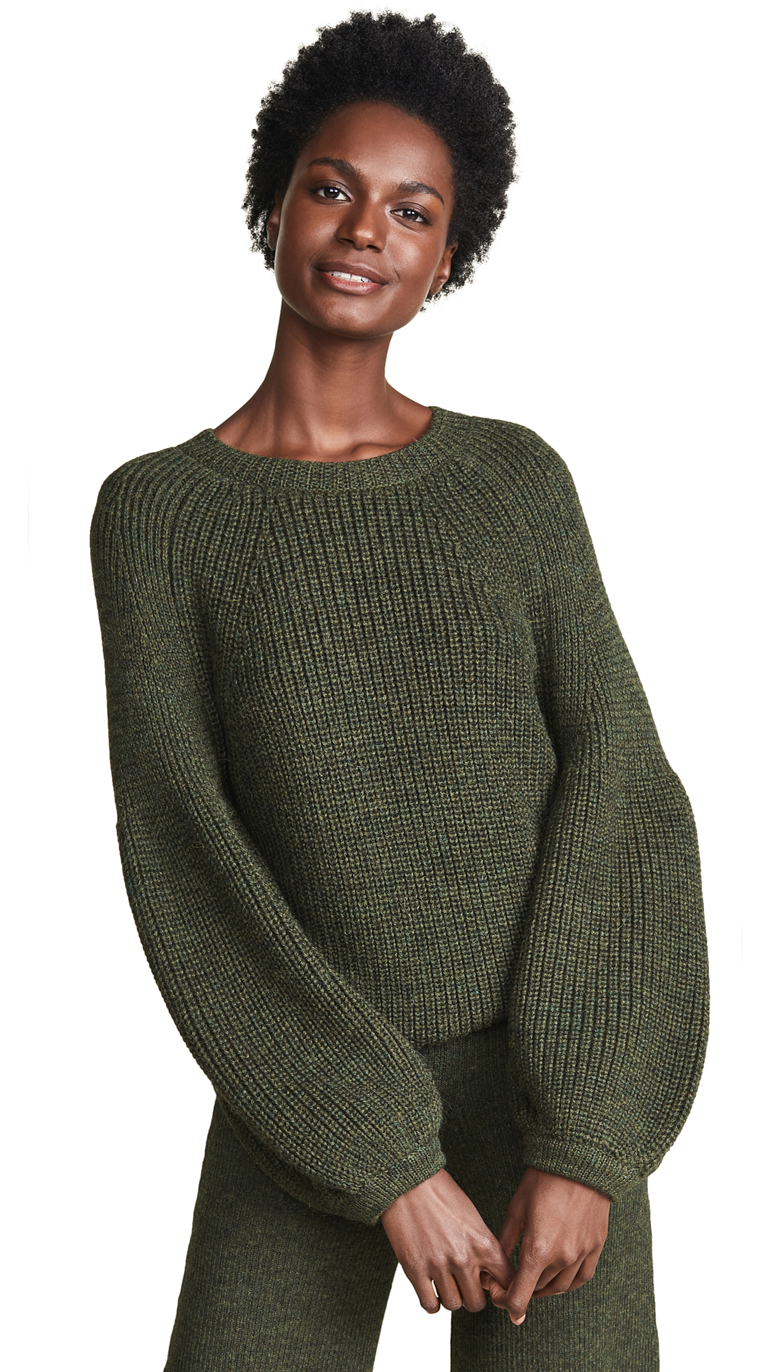 Mara Hoffman Eliza Alpaca Sweater In Olive