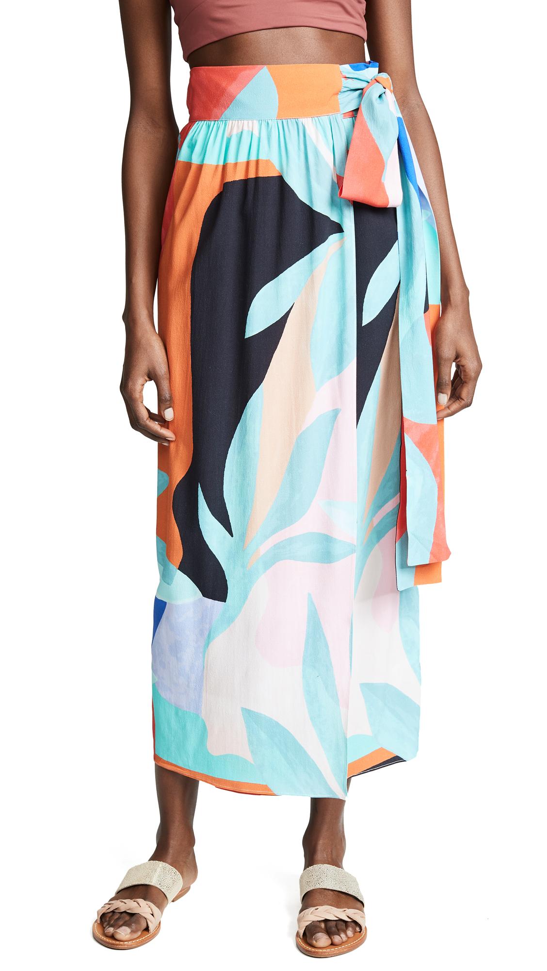 Mara Hoffman Cora Skirt - Black Multi
