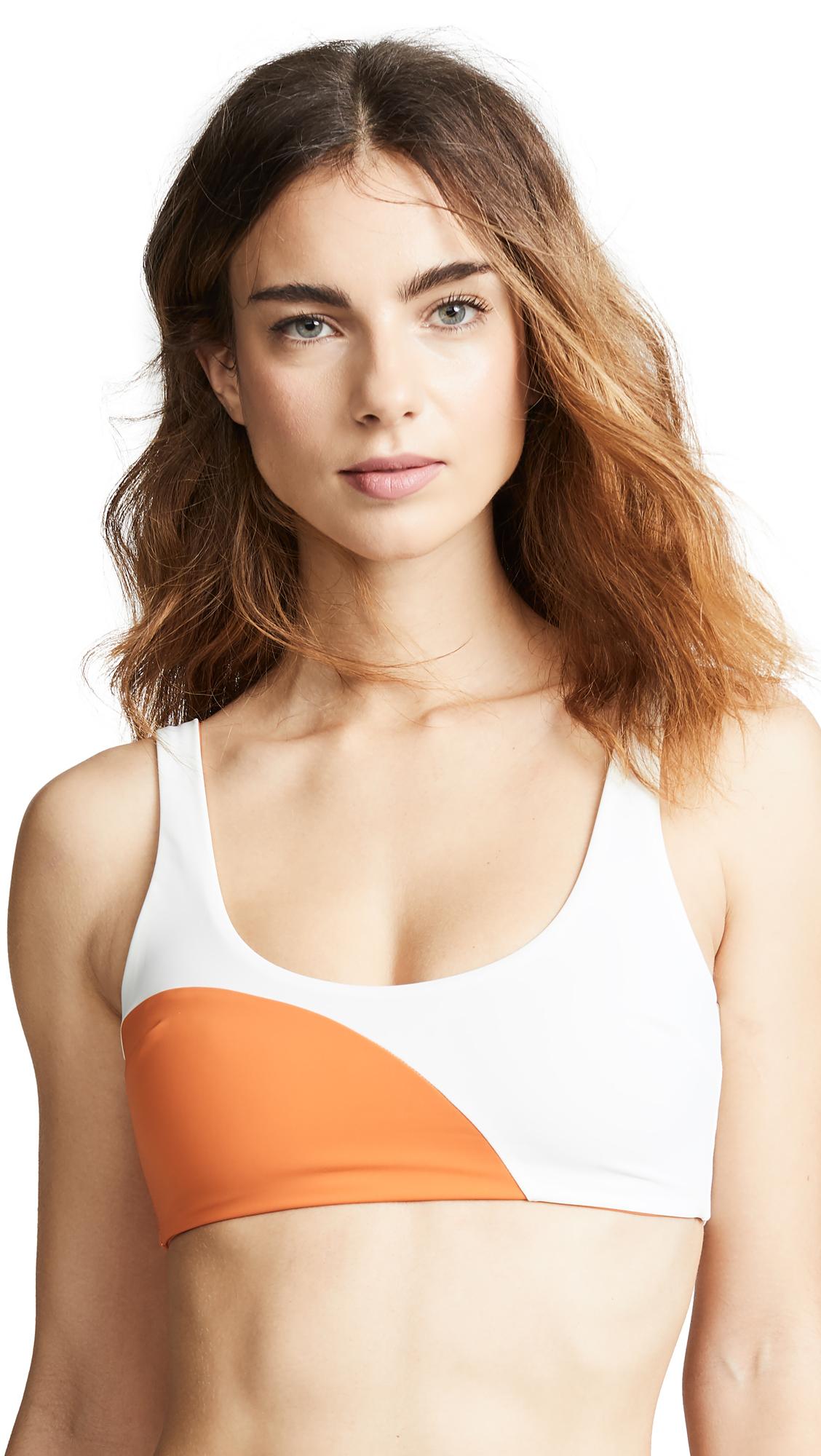 Mara Hoffman Lira Bikini Top - Cream Orange