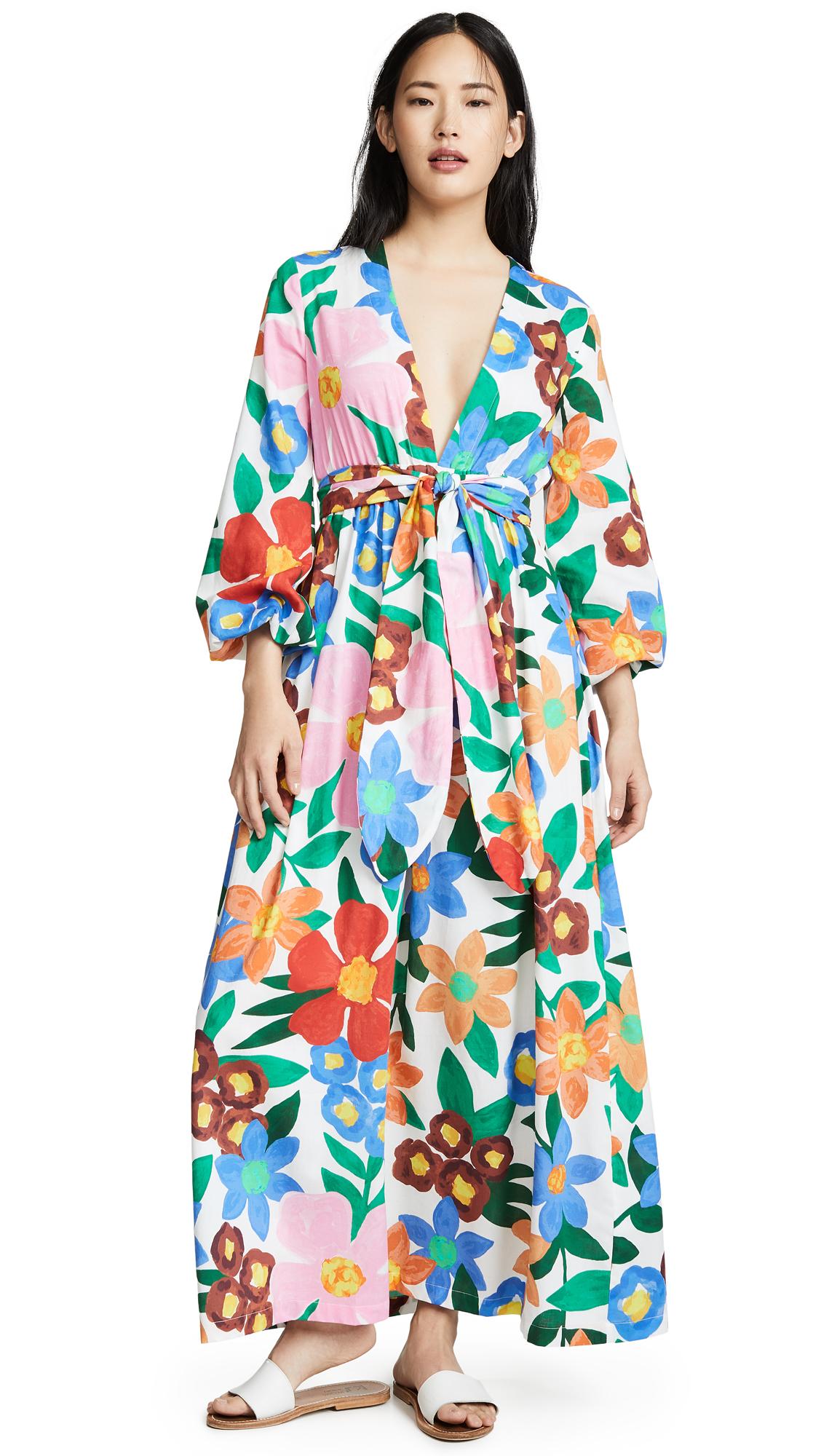 Mara Hoffman Luna Cover Up Dress - White Multi