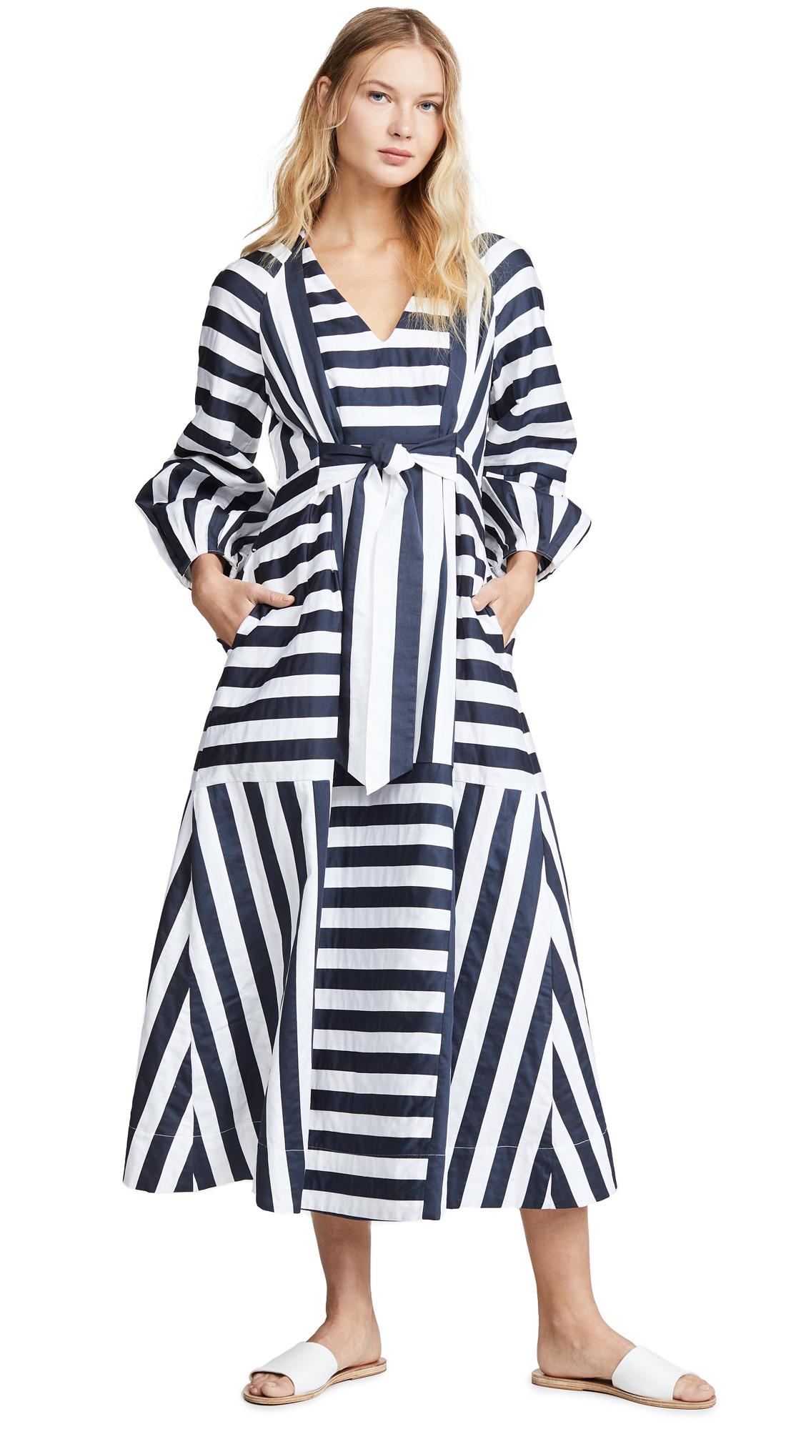 Mara Hoffman Vivica Dress - Navy/White