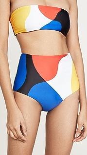 Mara Hoffman Lydia High Waisted Bikini Bottoms