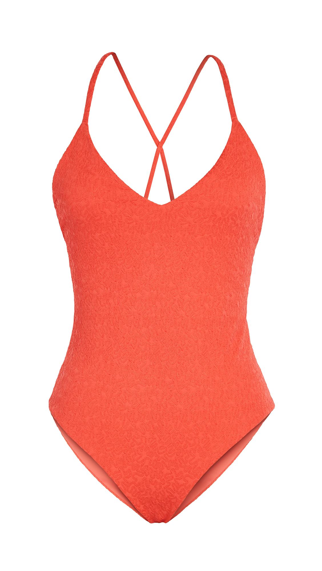 Mara Hoffman Emma One-piece Swimsuit In Red