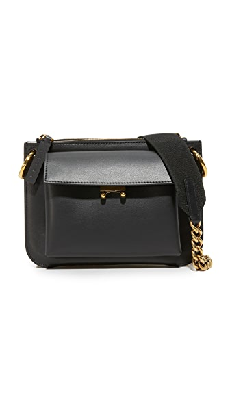 Marni Bandoleer Shoulder Bag - Black/Ice