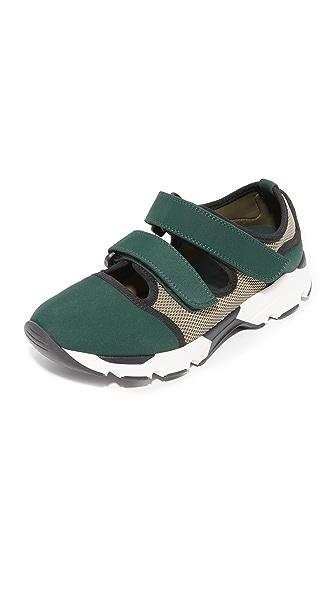 Marni Sneakers In Green/Grass