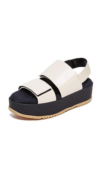 Marni Flatform Sandals - Alabaster